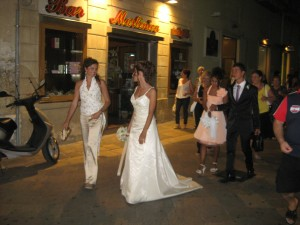 Newlyweds in Lecce